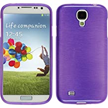 Silicone Case for Samsung Galaxy S4 - brushed purple - Cover PhoneNatic Case