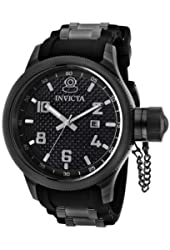 Invicta Men's 0555 Russian Diver Collection Black Rubber Watch
