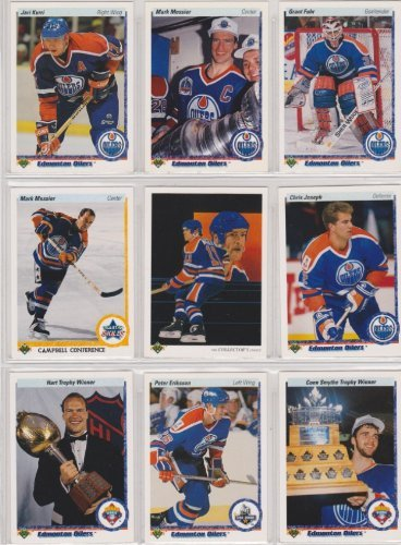 - Edmonton Oilers 1990-91 Upper Deck Team Set w/ High Numbers (25 Cards) (Premier Upper Deck Hockey Issue) (Mark Messier) (Jeri Kurri) (Grant Fuhr) (Chris Joseph)