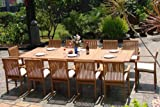 Cheap New 13 Pc Luxurious Grade-A Teak Dining Set – Large 117″ Rectangle Table And 12 Lua Stacking Arm Chairs #WHDSLUm