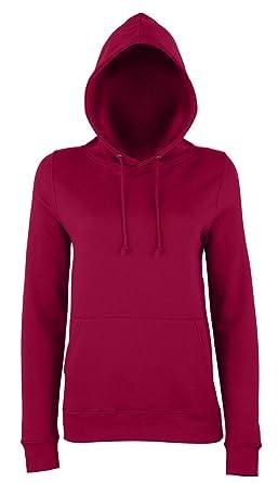 Girlie college hoodie Burgundy AWDis Hoods Streetwear Hoodies Ladies