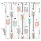 CafePress Bohemian Tribal Arrows Pattern Shower Curtain Decorative Fabric Shower Curtain (69''x70'')