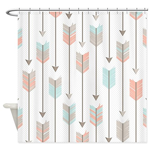 CafePress Bohemian Tribal Arrows Pattern Shower Curtain Decorative Fabric Shower Curtain (69''x70'') by CafePress