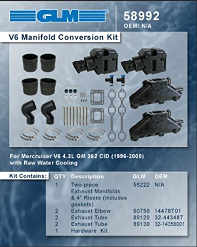 Mercruiser V-6 4.3 Single Piece Manifold Conversion Set | GLM Part Number: 58992