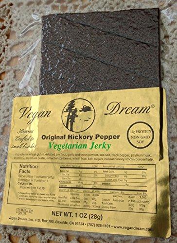 Vegan Dream Jerky - Original Hickory Pepper, 6 Pack