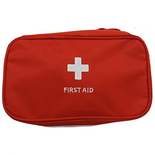Buorsa Empty First Aid Pouch Bag for Emergency at Home, Outdoors, Car, Camping, Workplace, Hiking & Survival,Red
