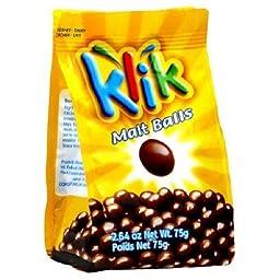 Klik Maltball Chocolate Covered 2.64 oz. (Pack of 12) ( Value Bulk Multi-pack)