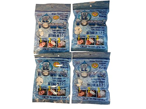 4-new-bags-of-ez-towels-compressed-towels-with-4-durable-tubes-and-packaging-200-pieces-total