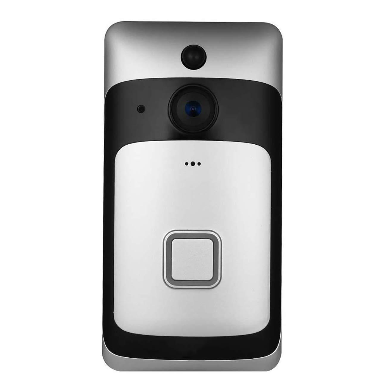 LHKAVE Intelligente Türklingel-Video-Türsprechanlage Drahtlose Sicherheitstür Intelligente HD 720 P Video-Gegensprechanlage Video-Aufnahme-Türtelefon Fernüberwachung Home Night Vision