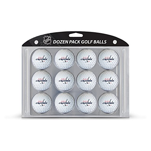 Team Golf NHL Washington Capitals Dozen Regulation Size Golf Balls, 12 Pack, Full Color Durable Team Imprint
