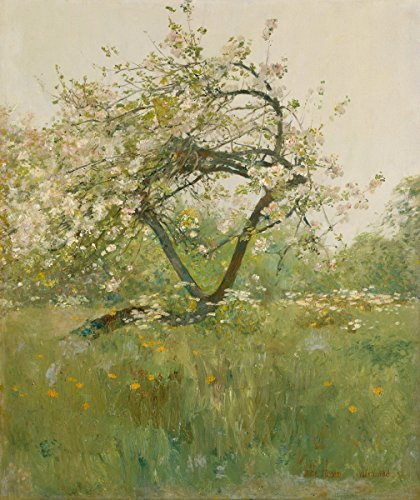 Berkin Arts Childe Hassam Giclee Canvas Print Paintings Poster Reproduction(Peach Blossoms Villiers le Bel)