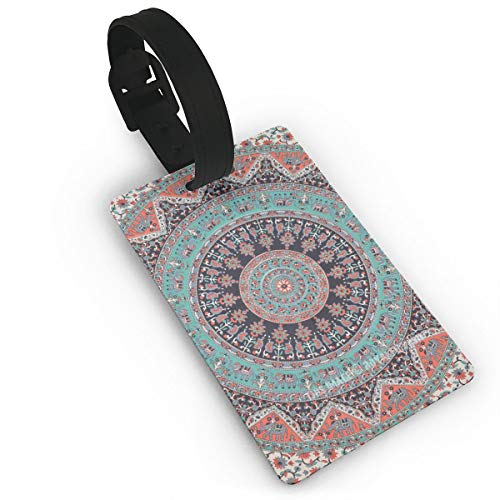 - Travelling Luggage Tag Mandala Bohemian Name Tags Suitcase Label ID Business Card Holder