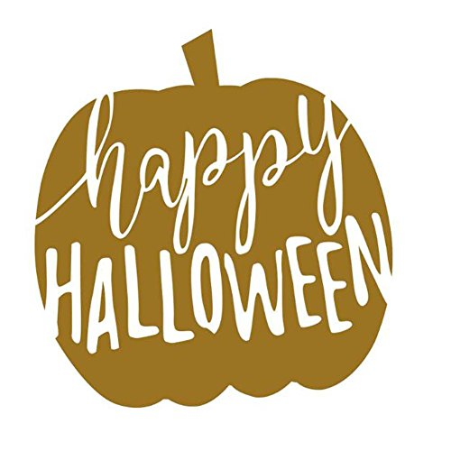 AODEW Creative Wall Sticker Happy Halloween Wall Sticker Decal Golden Apple Decorative Wall Sticker for Halloween 1 Set