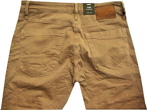 Mavi Colorjeans vintage taupe tapered sichtbare Knöpfe Yves18452