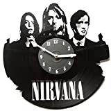 Wall Clock Nirvana – Clocks Unique – Decoration for Home – Nirvana Wall Clock – Clocks for Home – Vinyl Record Decor – Kitchen Clock – Vinyl Clocks – Nirvana For Sale