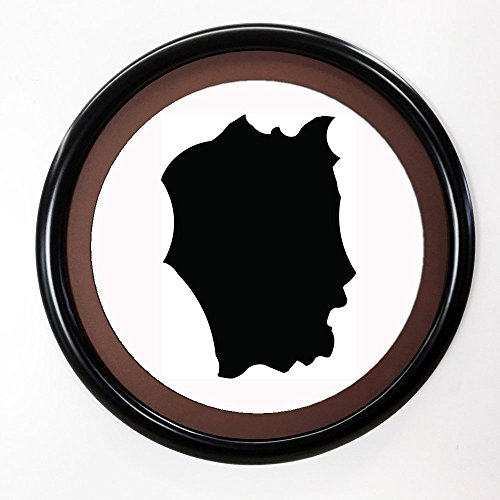Round Picture Frame Painted Black ()