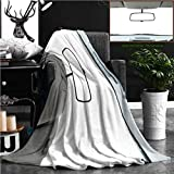 """Nalagoo Unique Custom Flannel Blankets Car Rear View Mirror Isolated On White Super Soft Blanketry for Bed Couch, Throw Blanket 60"""" x 50"""""""