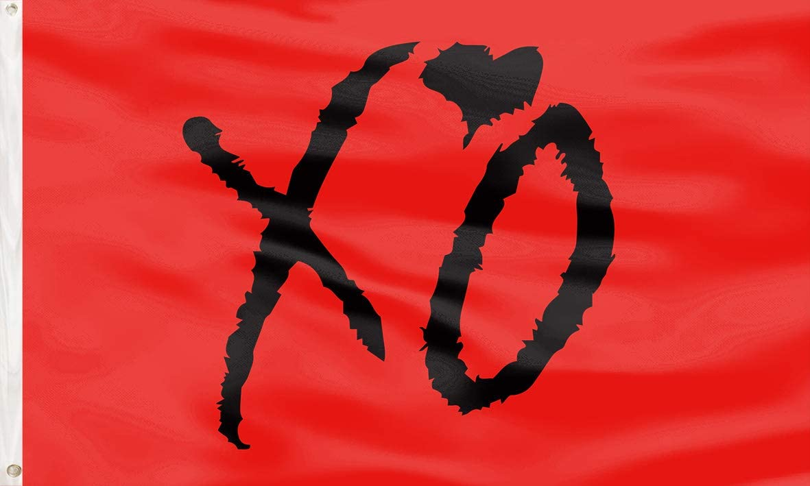 LONEA Valentine's Day XO Flag Wall Banners Decorative Flag UV Resistance Fading & Durable Wall Flag Heavy Duty with Brass Grommets for Dorm Room Decor,Outdoor,Parties 3x5 Ft