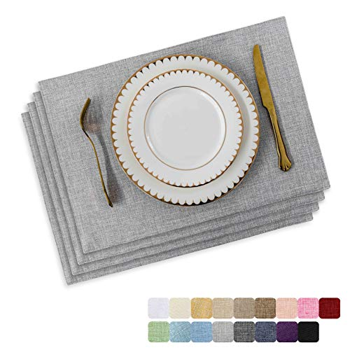 Home Brilliant Linen Table Placemats