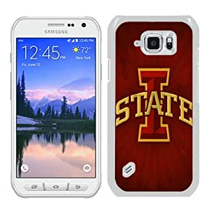 Durable High Quality NCAA Big 12 Conference Big12 Football Iowa State Cyclones 3 White Samsung Galaxy S6 Active Screen Phone Case