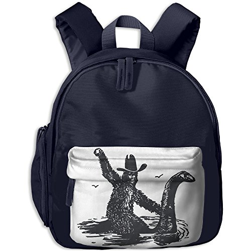 Costume Handel (Bigfoot Riding On Nessie Shoulders Backpack Casual Lightweight Canvas Backpacks With Pocket For)