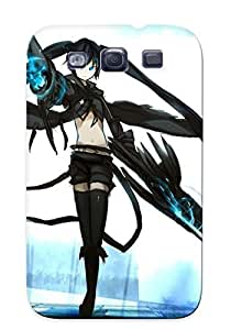 New Premium Eatcooment Black Rock Shooter Skin Design Ellent Fitted ForFor Case Samsung Galaxy S3 I9300 Cover For Lovers