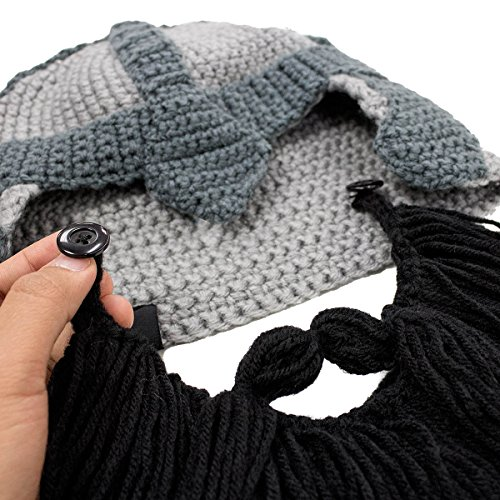 0b4327aa550dd4 Beard Head Dwarf Warrior Beard Beanie - Epic Knit Dwarf Helmet and Fake  Beard