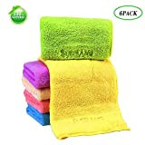 """Face Towels Set 1 Pack  Multi-Color 6-Pieces Microfiber  Quick Drying Antibacterial Hand Towel for Bathroom (12""""X12"""")&Multi-Purpose Highly Absorbent Extra Soft for Baby,People,Hand, Gym & Spa ,Car,Pet"""