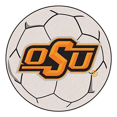 Cowboys Soccer Ball Mat - NCAA Oklahoma State University Cowboys Soccer Ball Mat Round Area Rug