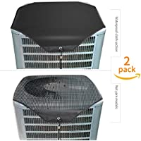 Ac Unit Cover - Conditioner Winter Waterproof Top Air Conditioner Leaf Guard Air Conditioner Cover with Open Mesh For Outside Units ( 2 Pack ) (Set A, 28×28)