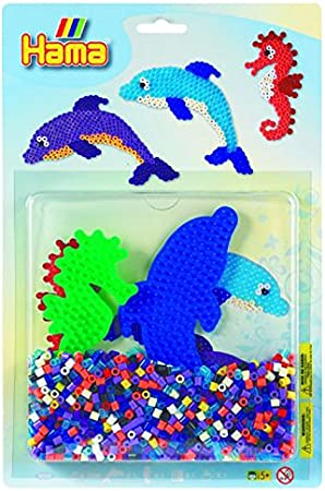 300 Dolphin Shaped Peg Board for Hama Midi Beads