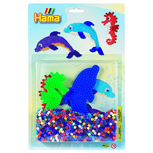 Hama Beads Dolphin & Seahorse Activity Kit 10.4057