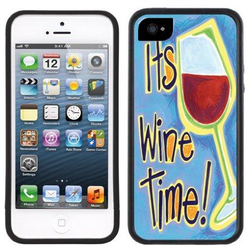 Il est temps de vin | Fait à la main | iPhone 5c | Etui Housse noir