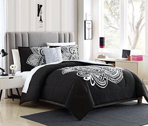 Lemon & Spice Dylan 3 Piece, Twin/XL Comforter Set Black