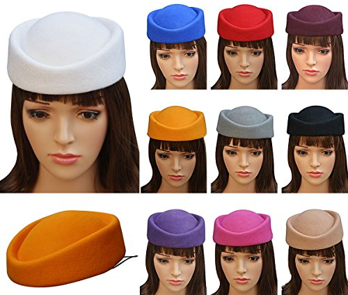 Lawliet Cocktail Fascinator Base Wool Air Hostesses Pillbox Hat Millinery Making A139