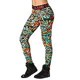 Zumba Women's Shaping Workout Leggings with Fashion Print, Crystal, Medium