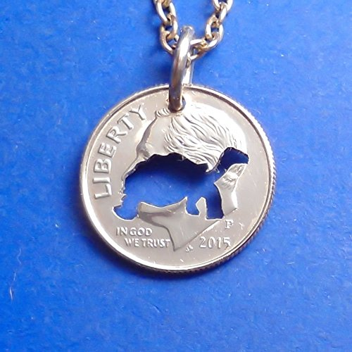 Tortoise Pendant Necklace or Keychain Keyring Cut in a Dime (Tortoise Costumes)