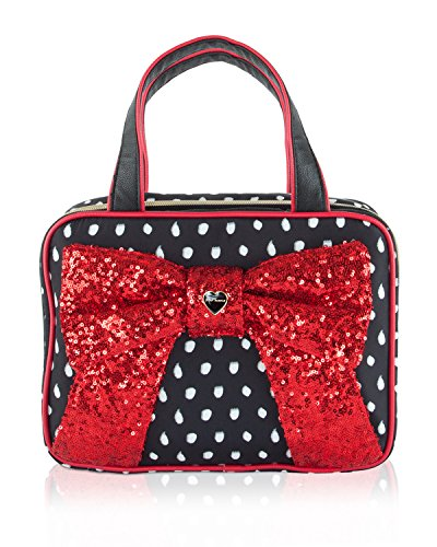 Betsey Johnson Weekender Bow Cosmetic Case - Red