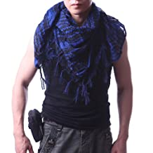 HDE Premium Arab Shemagh Fashion Head Scarf - Blue