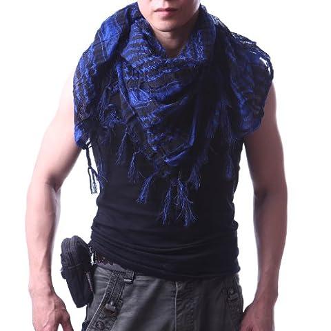 HDE Premium Arab Shemagh Keffiyeh Fashion Head Neck Scarf Wrap (Palestinian Scarf For Men)