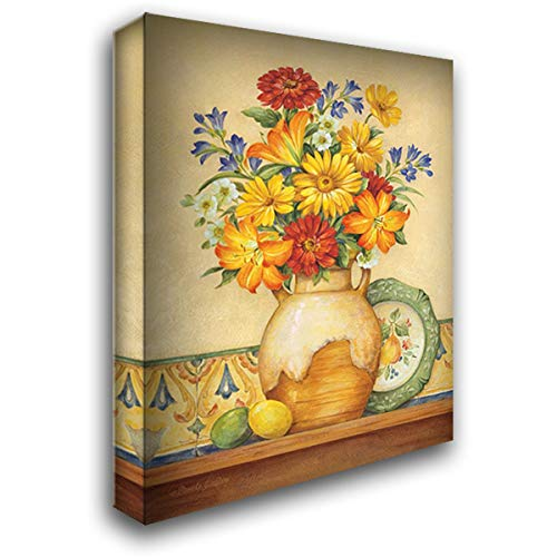 - Salsa Lilies 37x47 Extra Large Gallery Wrapped Stretched Canvas Art by Gladding, Pamela
