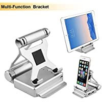 Lonchan Portable Multi-Functional 3-in-1 Mobile Phone Holder Battery Power Bank 10400mA Charger Pack 1 Port Input & 2 Usb Output ( 2.1A and 1A) Charging Stand for Apple Phone iPad Samsung
