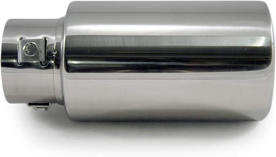 Universal 2219 Car Exhaust Tip Trim End Pipe Tail Sport Muffler Stainless Steel Chrome