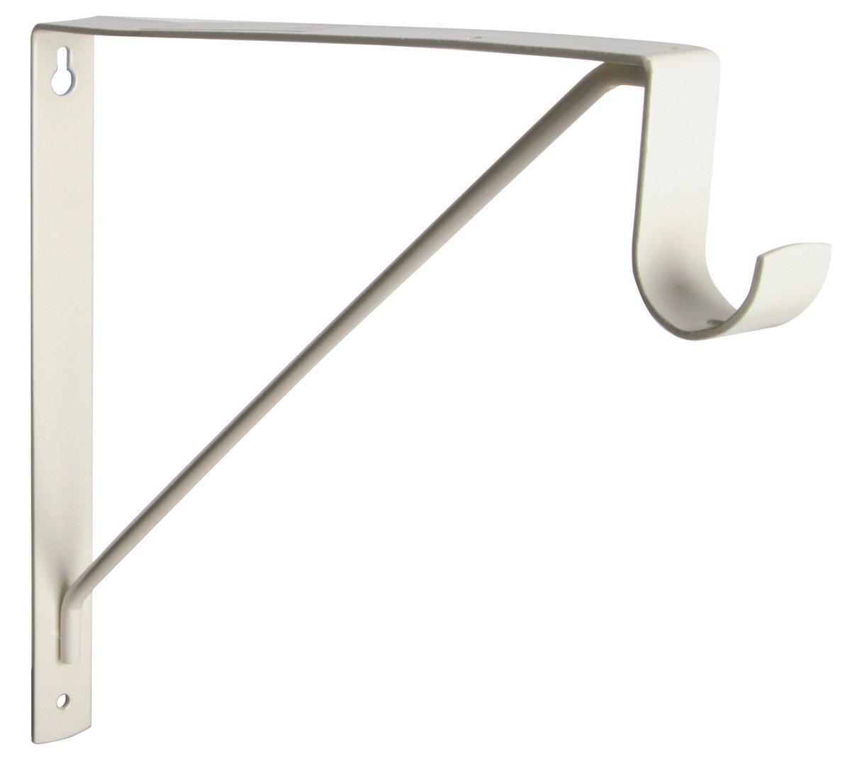 """Knape & Vogt CREAM 1195 Closet Rod & Shelf Support, 10"""" high x 11"""" long"""