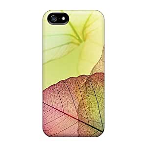 Case Cover Transparent Leaves/ Fashionable Case For Iphone 5/5s