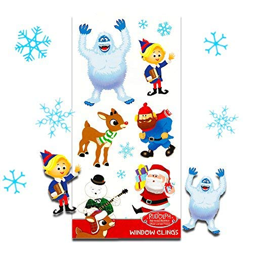 Rudolph the Red Nose Reindeer Christmas Winter Window Clings - 12 Piece