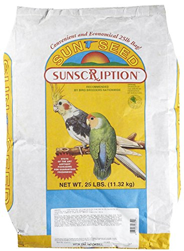 Sun Seed Company BSS10351 Vita Mix Daily Diets Small Hookbill Food, 25-Pound by Sun Seed