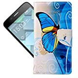 For Alcatel Onetouch Idol 3 (5.5) Case , TUTUWEN Charming Magnetic Wallet Card Slot PU Leather Flip Stand Protective Slim Case Cover For Alcatel Onetouch Idol 3 (5.5)