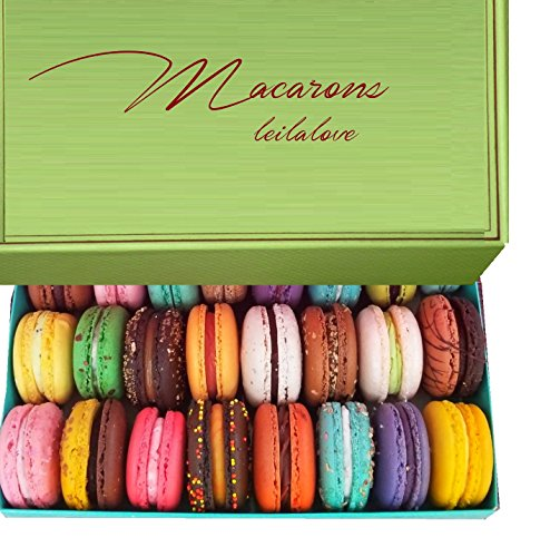 LeilaLove Macarons - Fresh 24 Macarons variety flavors - Ships right after baked to order by LeilaLove,Inc
