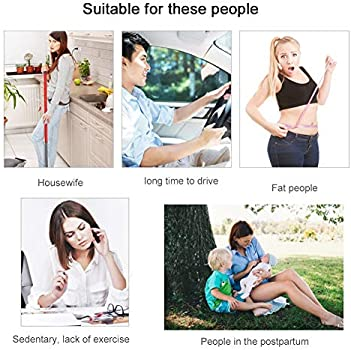 Buttock Trainer Hips Lift Muscle Toner Smart Slimming Machine Ab Workout Equipment Body Shaper for Men and Women Home Office Black+Pink EMS Muscle Stimulator